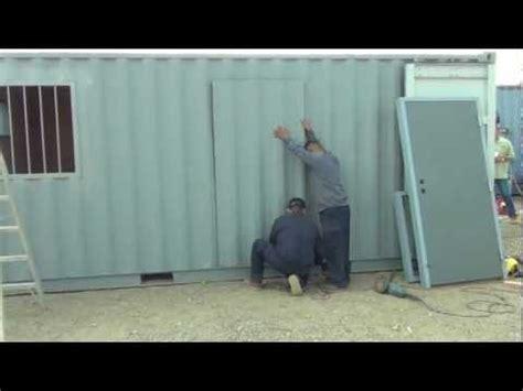 weld   man door install tiny homes silo house