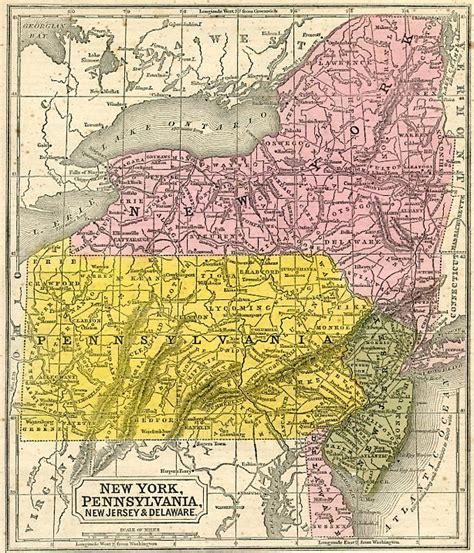 printable map of york pa new york pennsylvania new jersey delaware