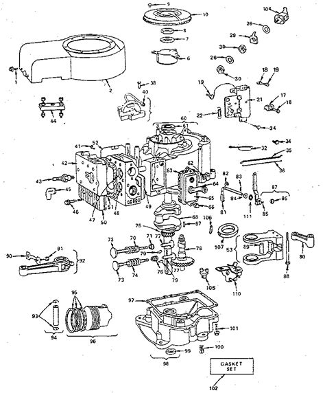 briggs and stratton engine parts diagram briggs stratton engine briggs and stratton parts model