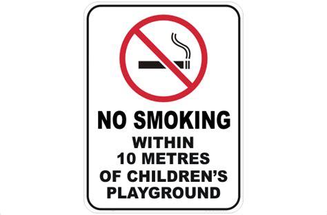 no smoking signs queensland no smoking children s playground p2267