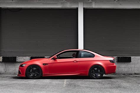 matte red bmw bmw m3 in matte red is amazing autoevolution