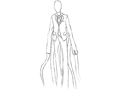 free slender man coloring pages