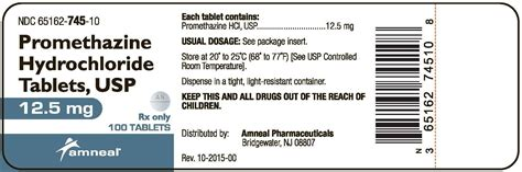 Usp Controlled Room Temperature by Dailymed Promethazine Hydrochloride Promethazine