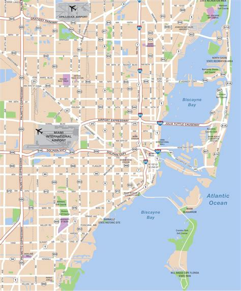 miami map large miami maps for free and print high