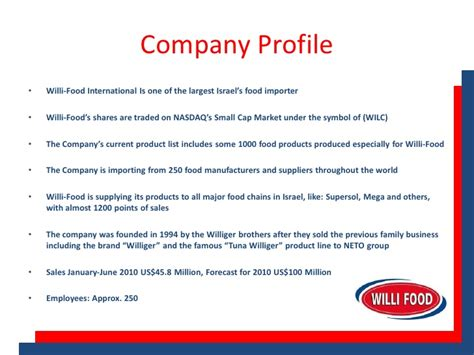 model company profile template free marketing plan sle of a food manufacturer and