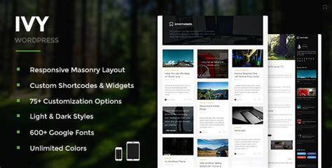 ivy themes themes blogger plantillas wordpress ivy responsive masonry wordpress