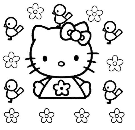 Imagenes Para Colorear Kitty   dibujos animados para colorear hello kitty para colorear