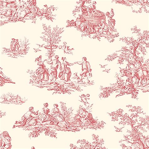 red toile wallpaper my style pinboard pinterest