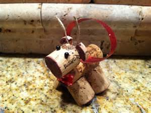 wine cork reindeer christmas ornament by miamorevino on etsy