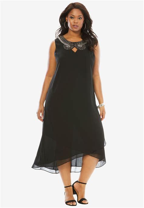 Dress Ebuty Denim embellished maxi dress by denim 24 7 plus size dresses