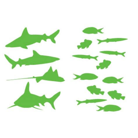 wall stickers fish fish and sharks wall sticker wall stickers