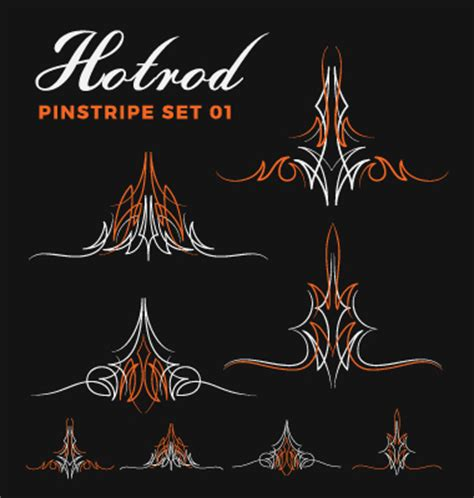 Paint 3d Aufkleber Download by Hotrod Pinstripe Vector Illustration Set 01 Free Download