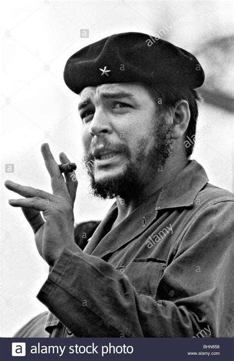 c he guevara with cigar in cuba 1961 photo by
