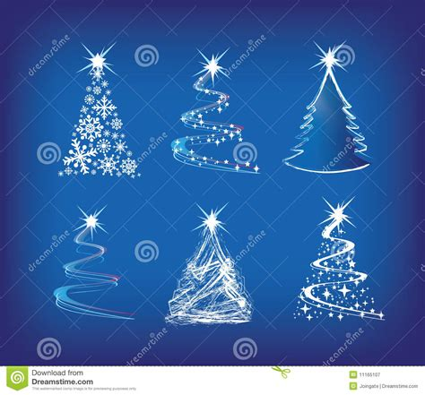 christmas tree modern illustration set   stock vector illustration  merry baubles