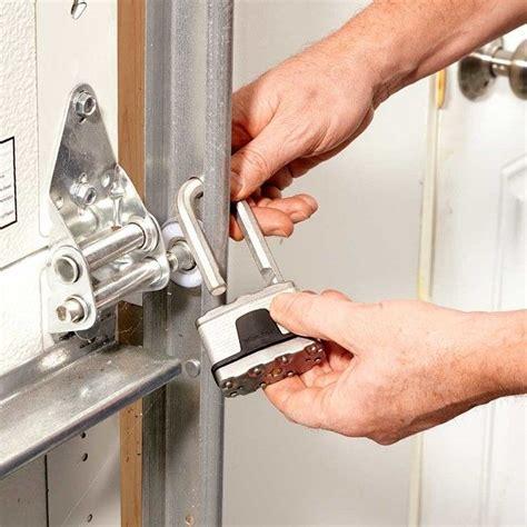 how to secure a garage door 25 best ideas about garage door security on