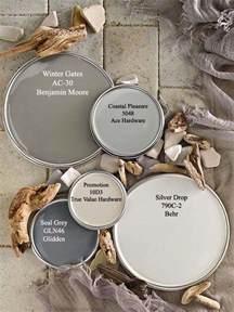 driftwood gray paint colors via bhg color palettes
