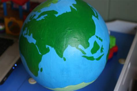 How To Make A Paper Globe - with geography diy globe