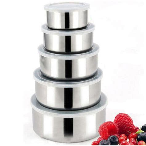 metal food container mixing tools in cooking