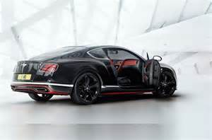 Bentley Au Bentley Continental Gt Black Speed Edition Announced For