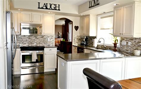 update your kitchen stainless steel oak kitchen remodel and update with painted cream cabinets