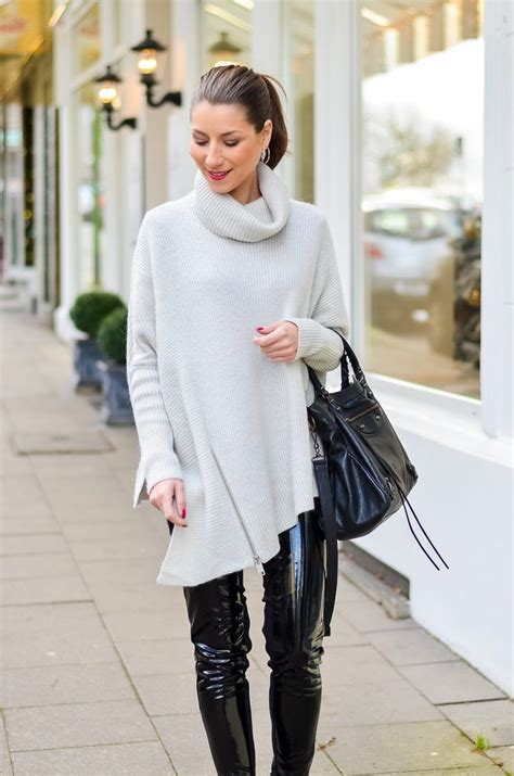 outfit lack hose elegant kombinieren outfit