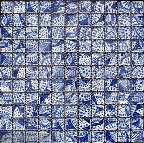 blue and white porcelain tile mosaic tiles ceramic blue white color ceramic mosaic qhc 02 gimare china