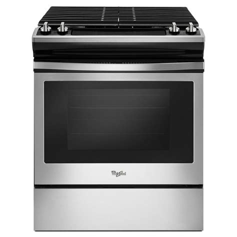 Oven Gas Stainless Steel whirlpool 30 in 5 0 cu ft slide in gas range in
