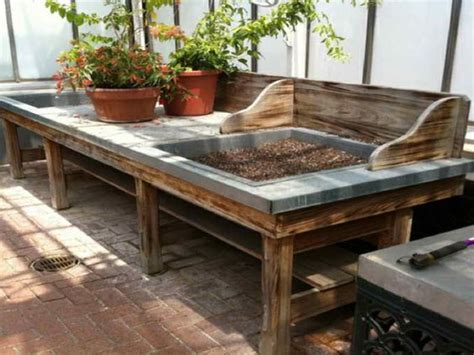 garden work bench with sink house sinks and a shed on pinterest