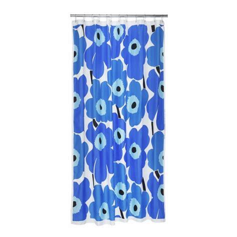 97 poppy blue polyester shower curtain poppy blue