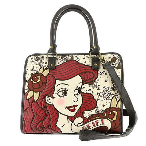 ariel flash tote handbag by loungefly loungefly ariel true tote bag stoneberry