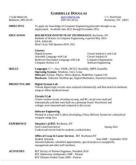 standard resume format for computer science engineers 54 engineering resume templates free premium templates