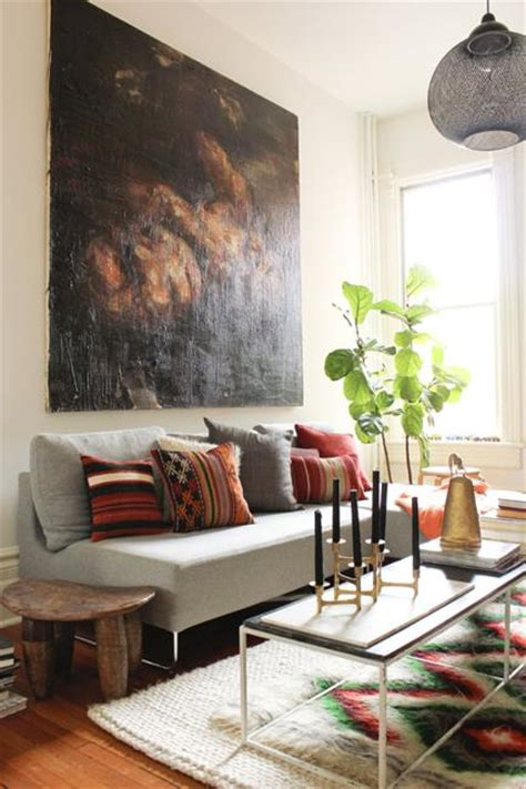 bohemian decor ideas adding chic  color  small living