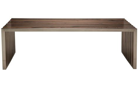 amici bench american amici bench natural or dark walnut finish 1100