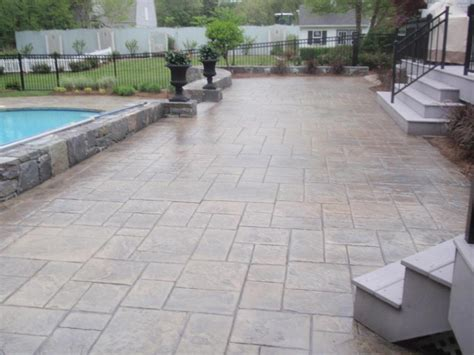 concrete in backyard cost awesome sted concrete design ideas images interior