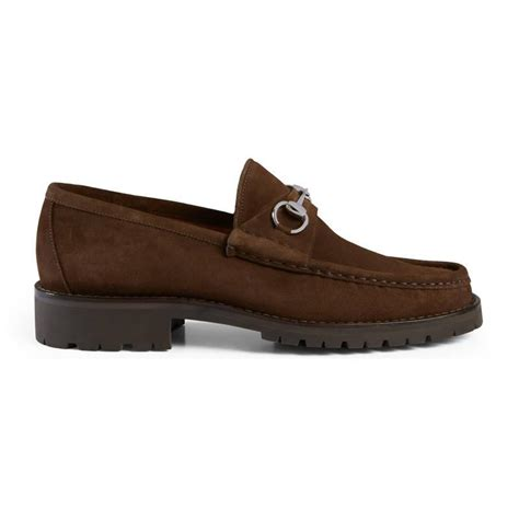 s gucci loafers sale gucci s horsebit leather loafer in brown for lyst