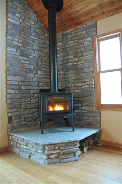 wood burning stove fireplace ideas corner wood stove ideas few elements like wall color