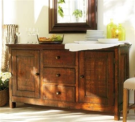 Dining Room Buffett by Remodelaholic How To Decorate A Buffet