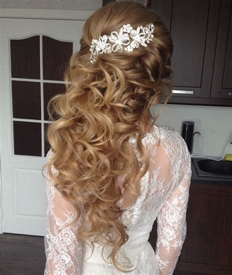 Wedding Hair Half Up Accessories by Half Up Half Wedding Hairstyles 50 Stylish Ideas