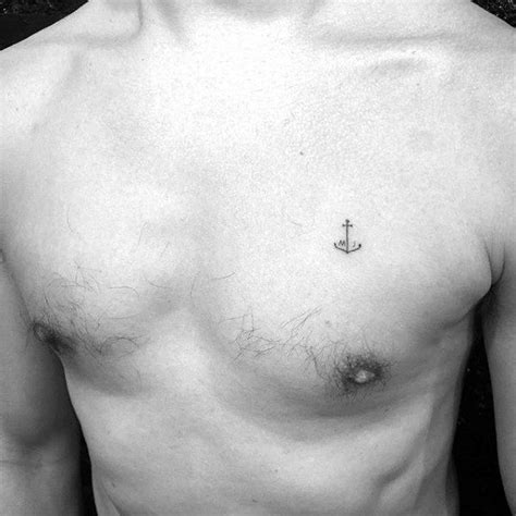easy tattoo on chest 60 unique anchor tattoos for men cool design ideas