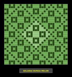 Bunga Tanjung Pattern | kelarai bunga tanjung weaving patterns kelarai