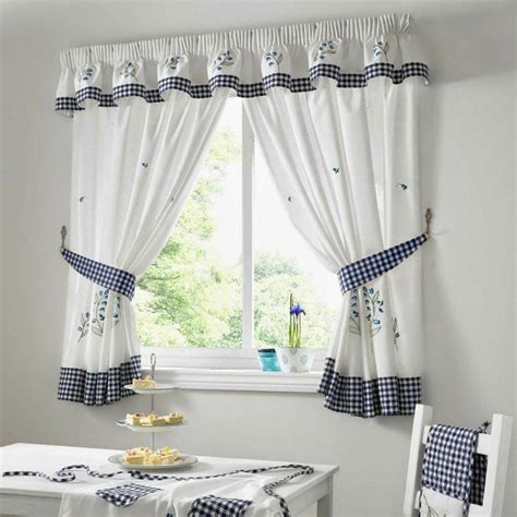Blue And White Kitchen Curtains by Kitchen Curtains Blue Gingham Kitchen Curtains Blue Green