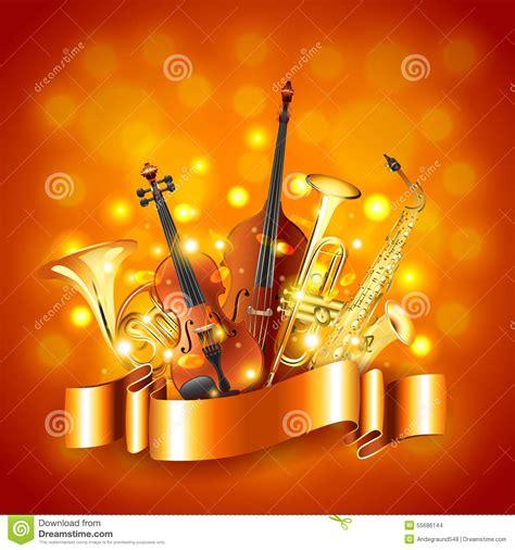 imagenes musicales con niños fondo del vector de los instrumentos musicales ilustraci 243 n