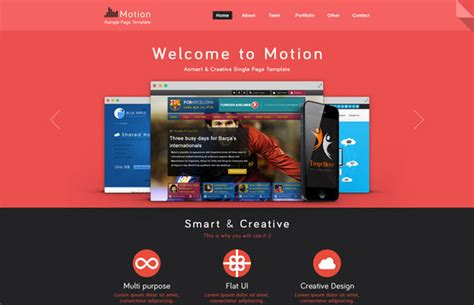 motion 5 typography templates 15 free one page html psd website templates web graphic design bashooka