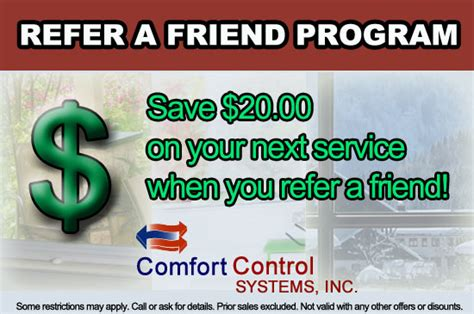 comfort control green bay comfort control systems referral programs in green bay wi
