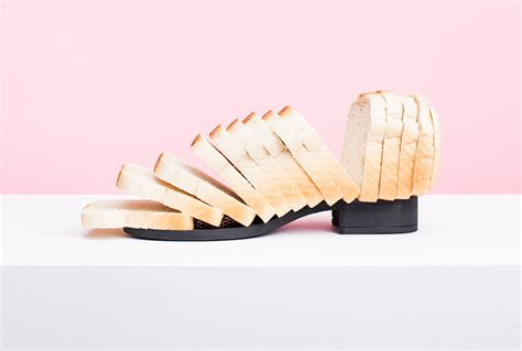 designboom shoes putput turns ordinary objects from hot dogs to hair into