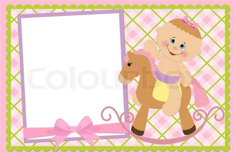 baby s birthday card template blank template for baby s greetings card or photo frame in