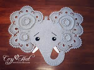 elephant rug crocheted ready to ship sale by cozyhat