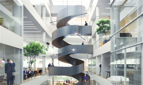 schmidt house movers giant twisting staircase revealed in schmidt hammer lassen