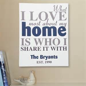 Personalized Housewarming Gifts What I Most Canvas
