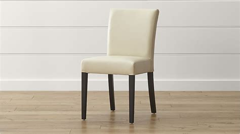 ivory leather dining room chairs lowe ivory leather dining chair crate and barrel